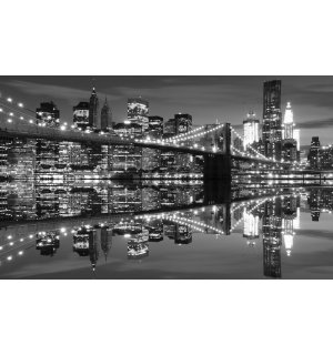 Foto tapeta: Crno-bijeli Brooklyn Bridge (3) - 254x368 cm