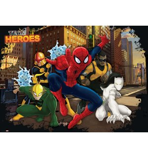 Foto tapeta: Team Heroes Spiderman - 184x254 cm