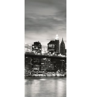 Foto tapeta: Brooklyn Bridge (crno-bijeli) - 211x91 cm