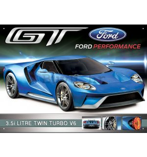 Metalna tabla - Ford GT