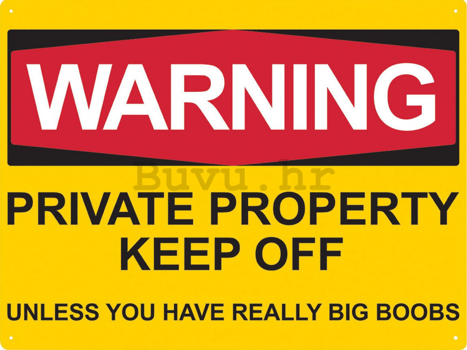 Metalna tabla - Warning, private property