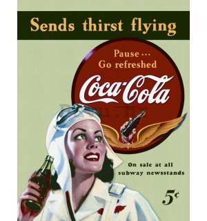 Metalna tabla - Coca-Cola (send thirst flying)