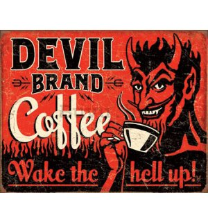 Metalna tabla - Devil Brand Coffee