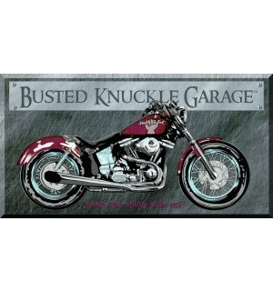 Metalna tabla: Busted Knuckle Garage - 22x40 cm