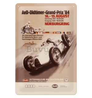 Metalna tabla - Audi AvD Oldtimer Grand Prix
