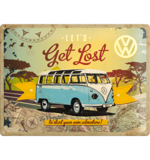 Metalna tabla: VW Let's Get Lost - 30x40 cm