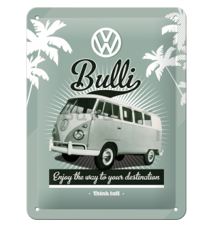 Metalna tabla: VW Bulli - 20x15 cm