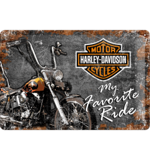 Metalna tabla - Harley-Davidson (My Favorite Ride)