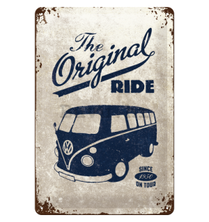 Metalna tabla - VW The Original Ride (siva)