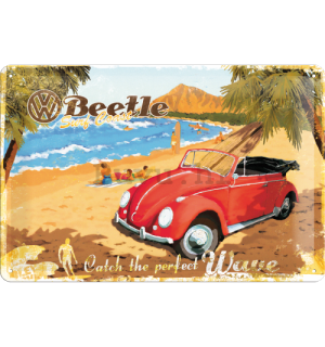 Metalna tabla - VW Beetle Ready for the Beach