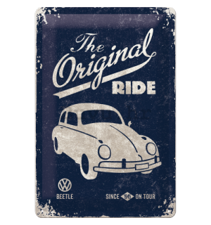 Metalna tabla - VW The Original Ride (plava)