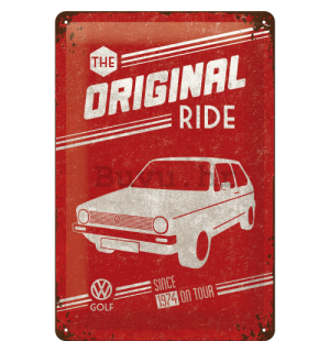 Metalna tabla - VW The Original Ride (crvena)