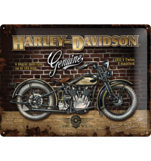 Metalna tabla - Harley-Davidson Genuine 1933