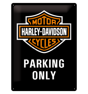 Metalna tabla: Harley-Davidson Parking Only - 40x30 cm