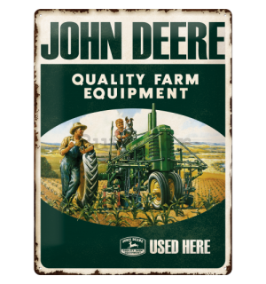 Metalna tabla - John Deere (Quality Farm Equipment)