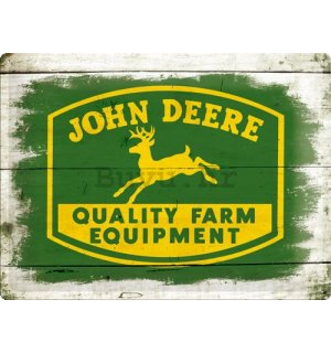 Metalna tabla - John Deere QFE Wood