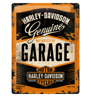 Metalna tabla: Harley-Davidson (Garage) - 40x30 cm