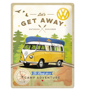 Metalna tabla - VW Let's Get Away