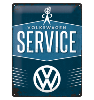 Metalna tabla: VW Service - 40x30 cm