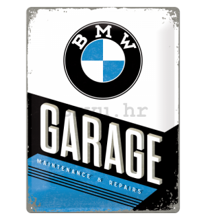 Metalna tabla: BMW Garage - 40x30 cm