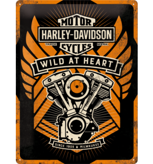 Metalna tabla - Harley-Davidson (Wild at Heart)