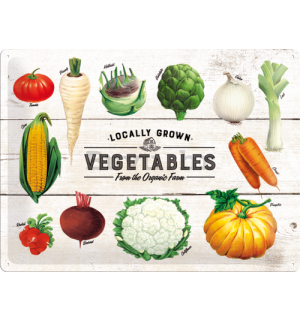 Metalna tabla - Locally Grown Vegetables