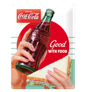 Metalna tabla - Coca-Cola (Good with Food)
