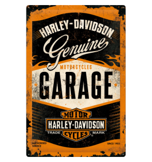Metalna tabla: Harley-Davidson (Garage) - 60x40 cm
