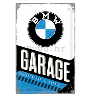 Metalna tabla: BMW Garage - 60x40 cm