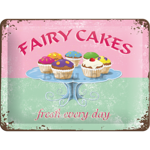Metalna tabla: Fairy Cakes - 15x20 cm