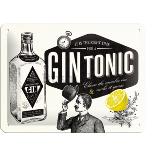Metalna tabla - Gin Tonic