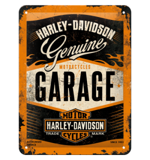 Metalna tabla: Harley-Davidson (Garage) - 20x15 cm