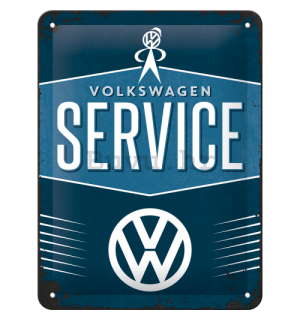 Metalna tabla: VW Service - 20x15 cm