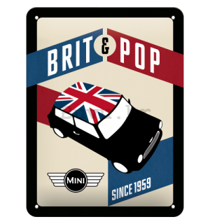 Metalna tabla - Mini Cooper (Brit Pop)