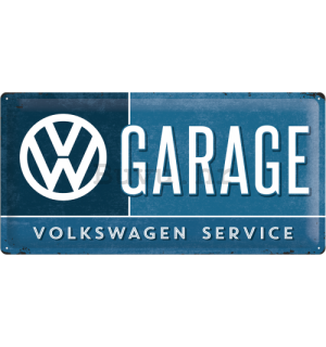 Metalna tabla: VW Garage - 25x50 cm