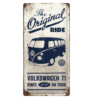 Metalna tabla: VW The Original Ride - 50x25 cm