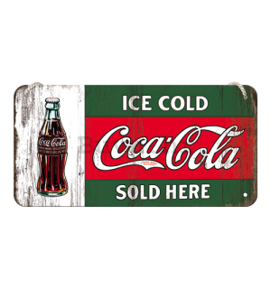 Metalna viseća tabla - Coca-Cola (Ice Cold Sold Here)