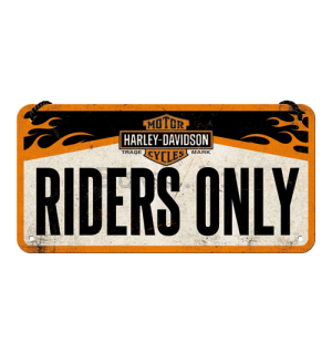 Metalna viseća tabla - Harley-Davidson Riders Only