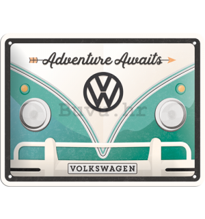 Metalna tabla: Volkswagen Adventure Awaits - 15x20 cm