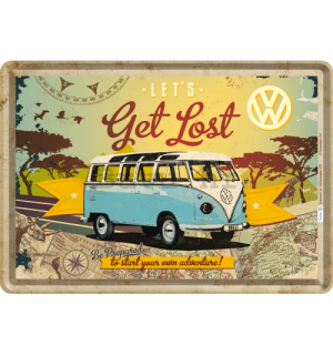 Metalna razglednica - VW Let's Get Lost