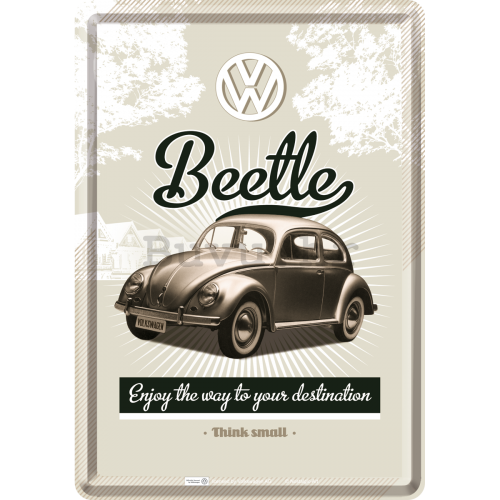 Metalna razglednica - VW Beetle (Enjoy the Way to Yors Destination)