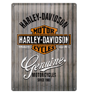 Metalna tabla: Harley-Davidson (metal genuine) - 40x30 cm