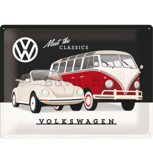 Metalna tabla: Volkswagen (Meet the Classic) - 30x40 cm