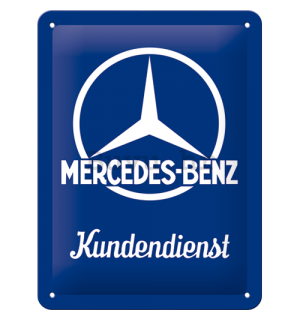 Metalna tabla: Mercedes-Benz (Kundendienst) - 20x15 cm
