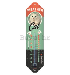 Retro toplomjer - Weather Cat