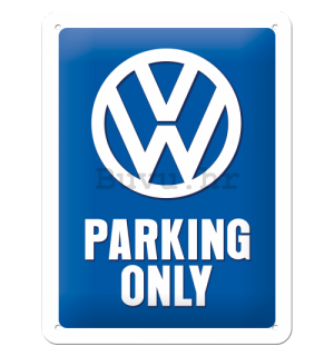 Metalna tabla: VW Parking Only - 20x15 cm