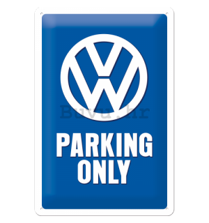 Metalna tabla: VW Parking Only - 30x20 cm