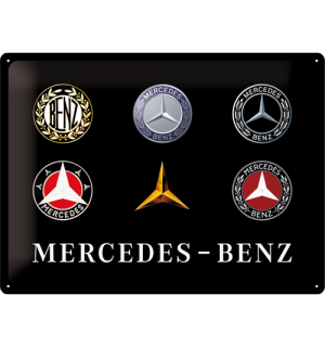 Metalna tabla: Mercedes-Benz (logotipi) - 30x40 cm