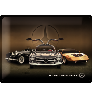 Metalna tabla: Mercedes-Benz (tri automobila) - 30x40 cm