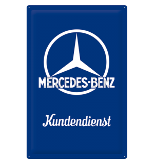 Metalna tabla - Mercedes-Benz (Kundendienst) - 60x40 cm
